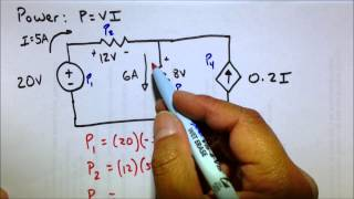 Circuit Power Dissipated & Supplied Analysis Practice Problem thumbnail