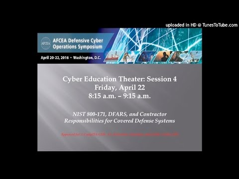 Cyber Education: NIST 800-171, DFARS and Contractor Responsibilities for Covered Defense Systems