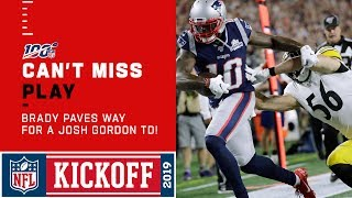 Brady Clears the Way for a Josh Gordon TD!