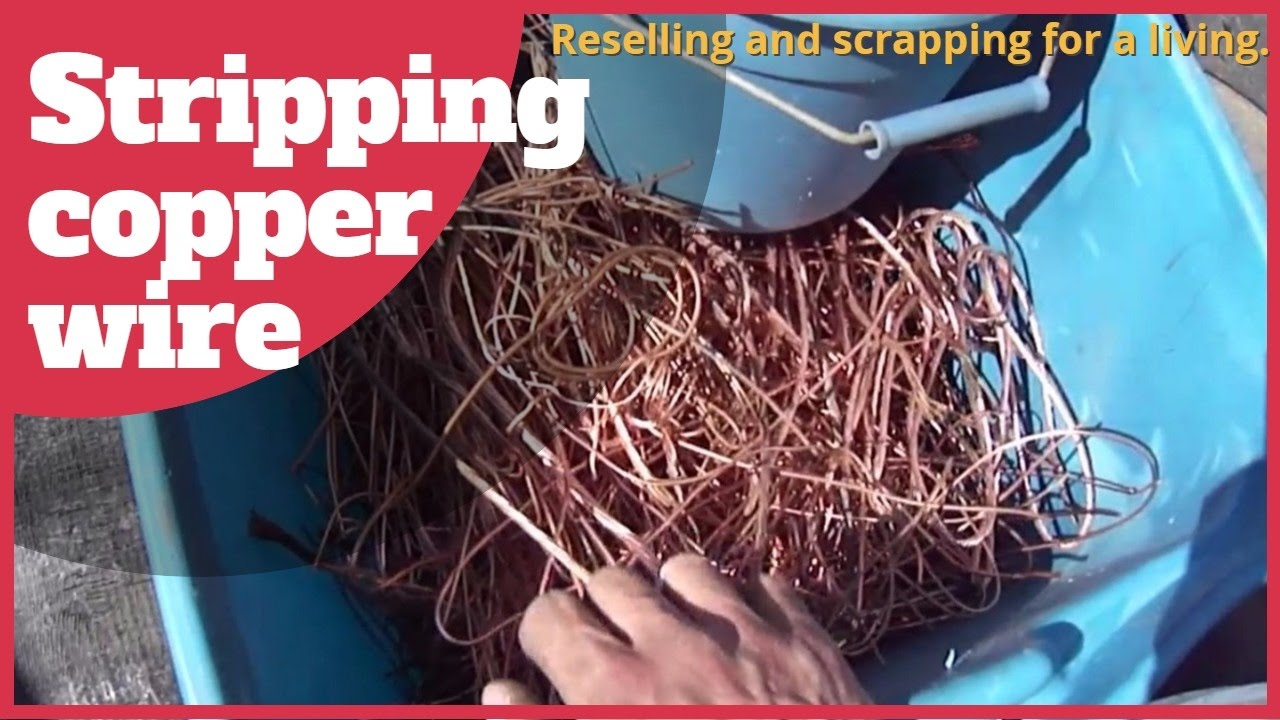 Stripping insulated copper wire. Finding scrap metal. Reselling and ...