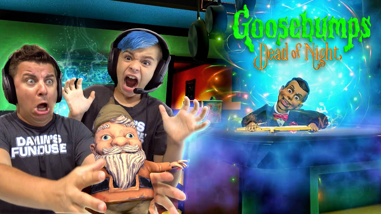 WE RAN SLAPPY OUT OF THE HOUSE! GOOSEBUMPS DEAD OF NIGHT Chapter 2: Conservatory