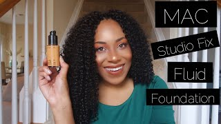 Foundation Review & Demo: Mac Studio Fix Fluid Foundation SPF 15 NC45 | WOC Friendly