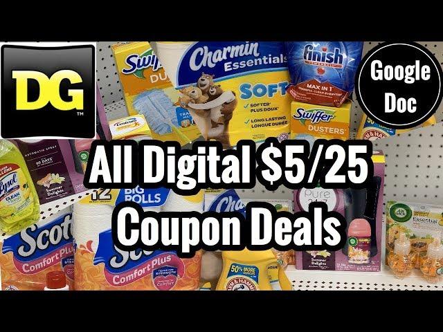 Dollar General | ALL DIGITAL $5 Off $25 Couponing Deals | 5 Breakdowns Under $10! ????????