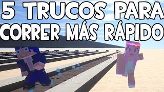 5 TRUCOS PARA CORRER MÁS RÁPIDO EN MINECRAFT | CURIOSIDADES