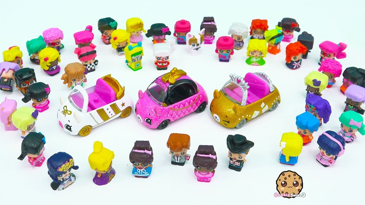 Limited Edition Rare Hard To Find Cutie Cars With Mini Shopkins Riders