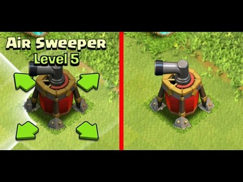 Clash of Clans - Air Sweeper Level 5 Defense Replay