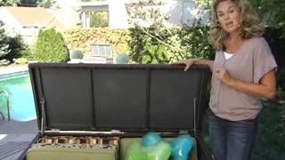 Parker All Weather Wicker Storage Deck Box - Product Review Video