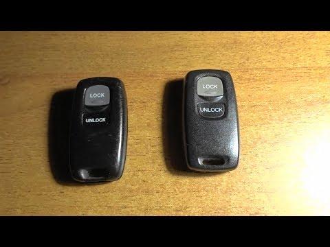 Как прописать штатный пульт  дистанционного открывания замка на Mazda