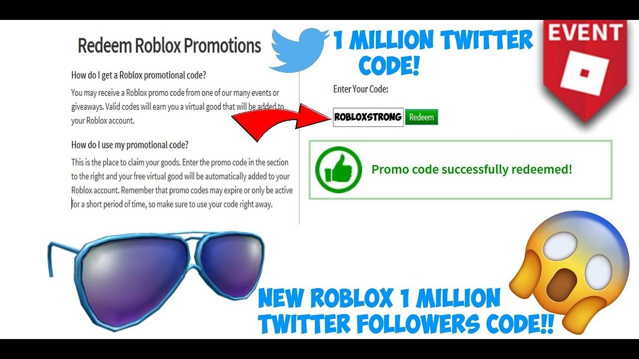Expired Roblox 1 Million Twitter Followers Code Youtube