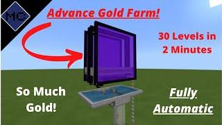 Minecraft Bedrock: Advanced Gold Farm Tutorial!