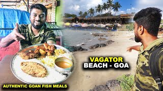 AUTHENTIC HOMEMADE GOAN FISH MEALS !! Sunset at VAGATOR BEACH - GOA