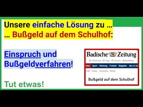 """Unsere einfache Lösung zur Nachricht """"Bußgeld auf dem Schulhof"""" in """"Badische Zeitung"""""""