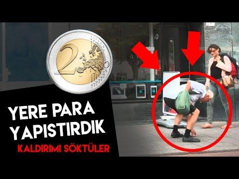 YERE PARA (2 EURO) YAPIŞTIRDIK. KALDIRIMI SÖKTÜLER!- PRANK ŞAKA - SOSYAL DENEY