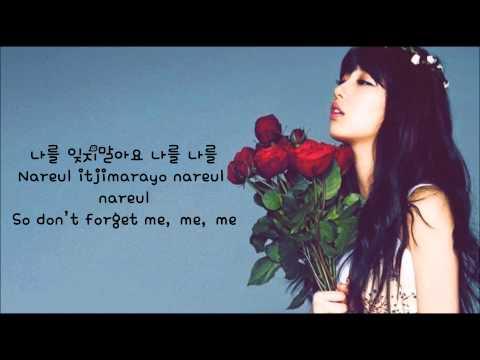Suzy (of Miss A) - Don't Forget Me (나를 잊지말아요) (eng sub + romanization + hangul) [HD]