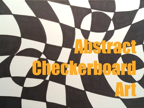 Abstract Checkerboard Art