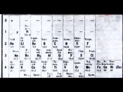 Сенсация!Первая таблица Менделеева