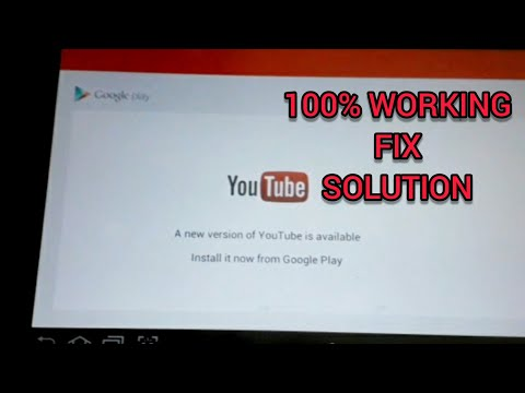 100% Fix Solution (Eng): A New Version Of Youtube Is Available Error ( Play Youtube On Android 4.0 )