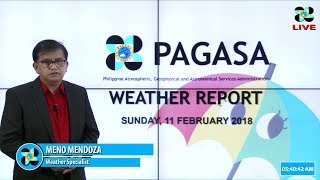 Public Weather Forecast Issued at 4:00 AM February 11, 2018