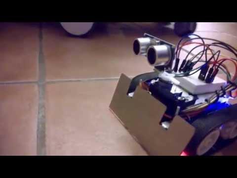 Arduino Zumo Robot With Distance Sensor (wall E Is Back)