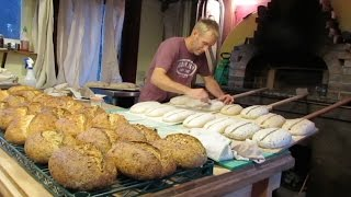 Seth Bakes Bread in a Wood-fired Bread Oven