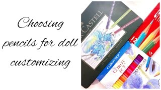 Doll Repaint How To Choose Pencils Pencils From Aliexpress Vs Professional Faber Castell Pencils Youtube