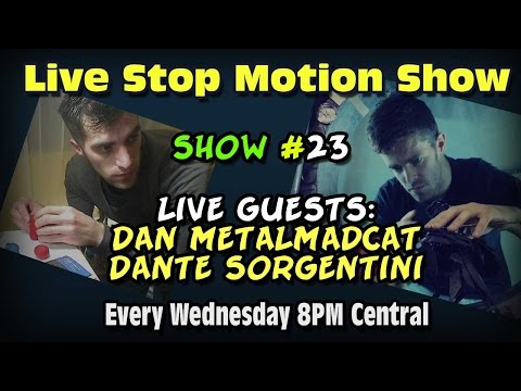 Live Stop Motion Chat Show #23 Guests Dan Metalmadcat and Dante Dante Sorgentini Make Puppets