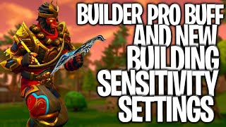 Huge Builder Pro Buff, New Building Sensitivity Settings And INSTANT Editing! Fortnite Console Buff