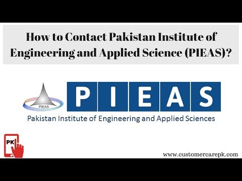 PIEAS Campus Address, Phone Number, Email ID, Website
