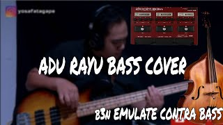 Yovie Tulus Glenn - Adu Rayu Bass Cover (Zoom b3n Upright Patch)