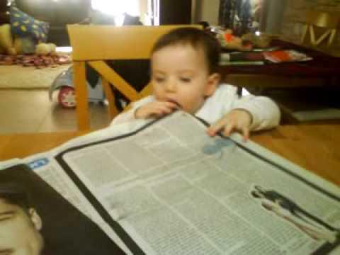 אראל אביטן,yediot-ahronot;תינוק קורא עיתון