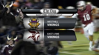 Westhill at East Lyme football