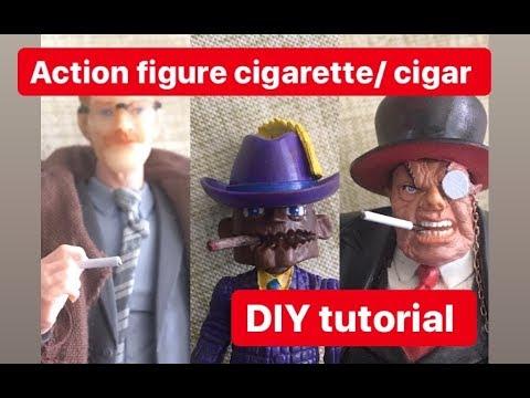 DIY: miniature cigarette & cigar for 1:12 scale action figures