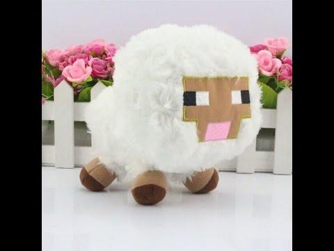 Обзор - Плюшевая игрушка овечка из Майнкрафта
