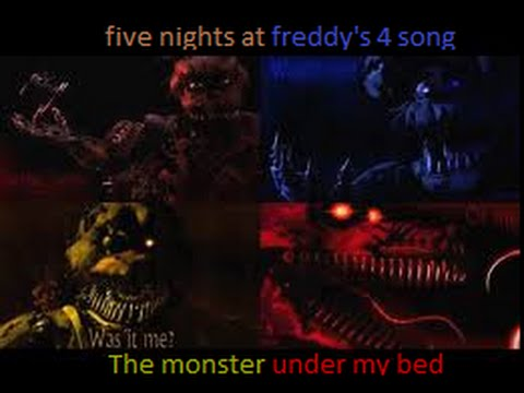 Five nights at freddy s 4 the monster under my bed song youtube
