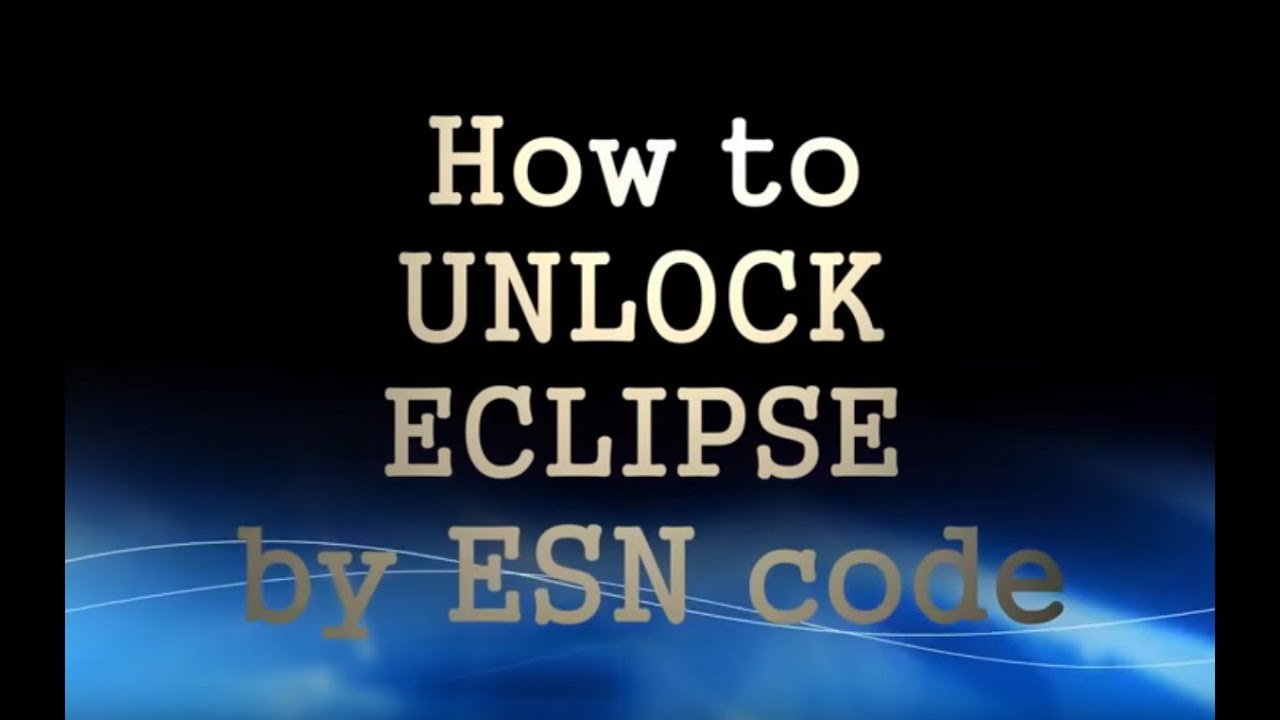 How To Unlock Eclipse By Esn Code Youtube Avn6620 Wiring Diagram