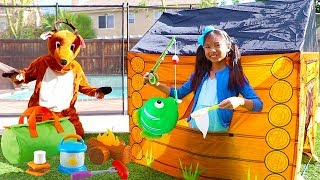 Camping & Fishing Adventure with Wendy | Kids Toys