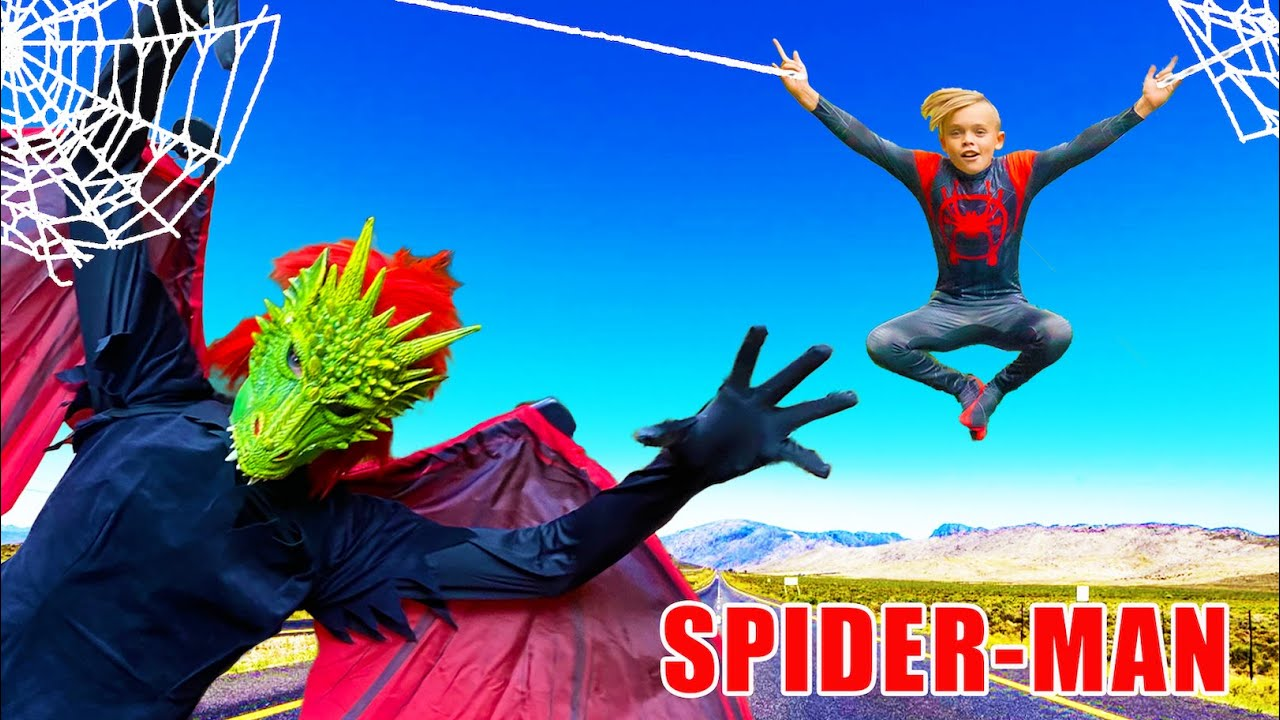 Spiderman vs Villain Superhero Showdown! Will the Superhero Spidey Powers Work?