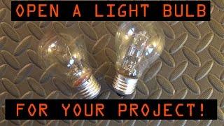 How to open light bulb !