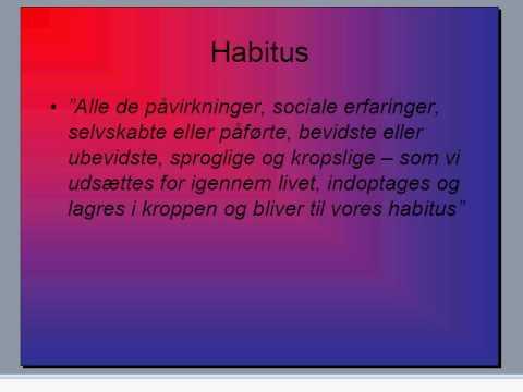 Theorising Practice II: Habitus/Hexis
