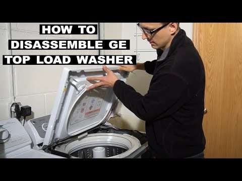 How to Take Apart a GE Topload Washer - YouTube