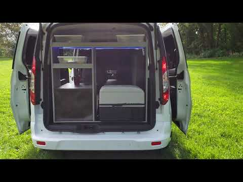 2017 Transit Connect campervan with a TV and automatic HD antenna