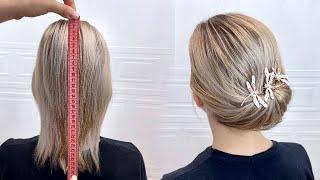 Красивые прически пошагово Прическа на короткие и тонкие волосы Быстрая и легкая прическа