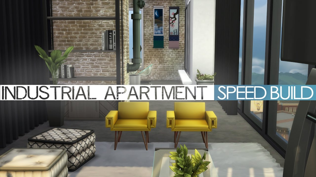 The Sims 4 City Living   Speed Build   INDUSTRIAL APARTMENT   YouTube