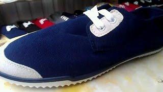 Обзор обуви! Мокасины  синего цвета НОВИНКА