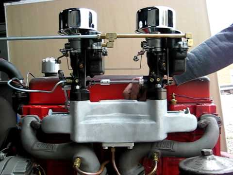 Hot Rod Chevy 235 Carter W-1's on Tattersfield Intake