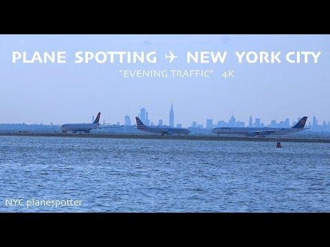 "Plane Spotting New York City: ✈ ""EVENING TRAFFIC""  @ ICAO: KJFK  ✈ (4K)"