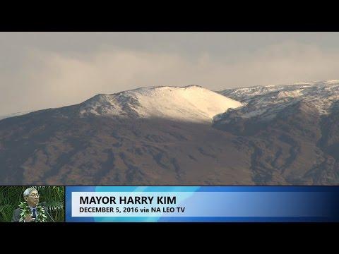 Harry Kim Talks Mauna Kea (Dec. 5, 2016)