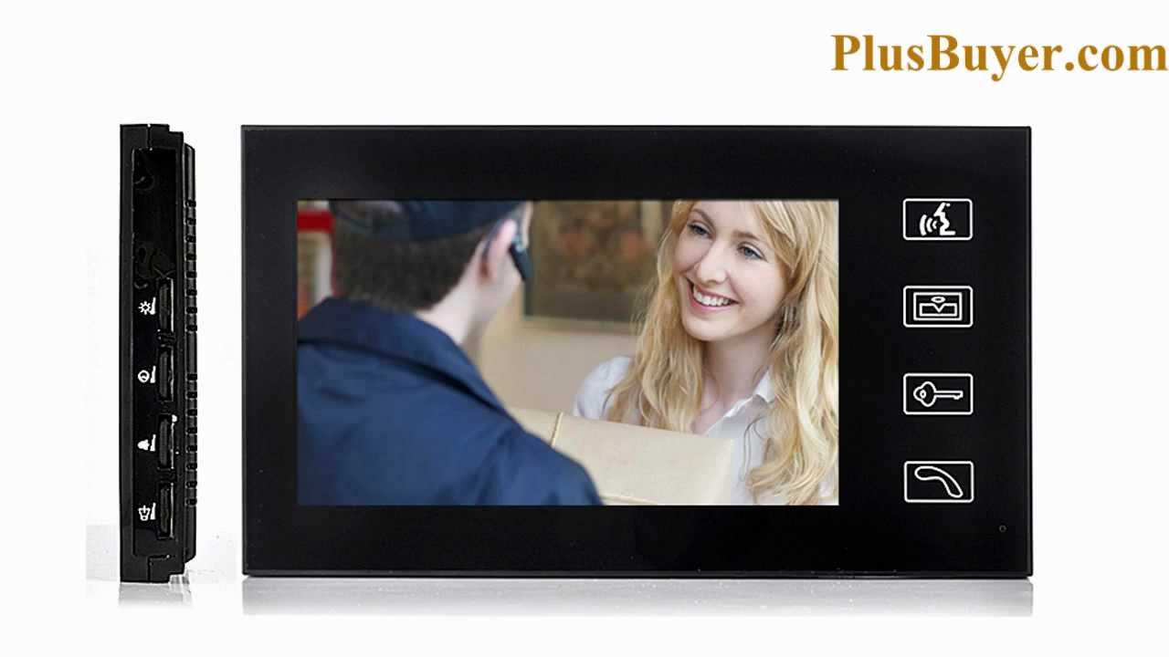 7 Inch Touchscreen Video Door Phone with Vandal proof Outdoor Camera - YouTube  sc 1 st  YouTube : video door - pezcame.com