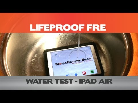 Water Test - LifeProof Fre For The IPad Air - IPad Cases