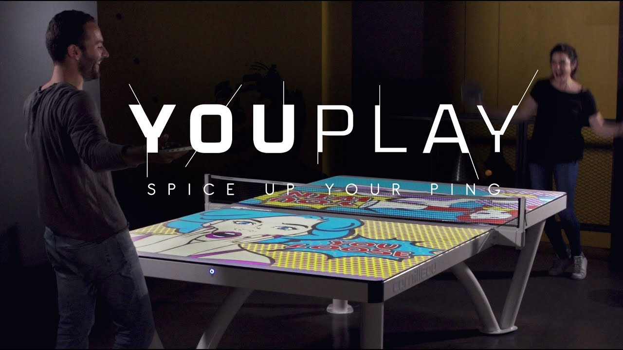 Table Cornilleau Youplay The First Interactive Ping Pong Table That You Can Try